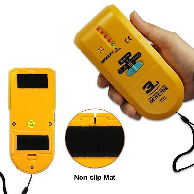 Wall Scanner Stud Finder 3-in-1 Detector with Sound Warning LED Metal AC Wire