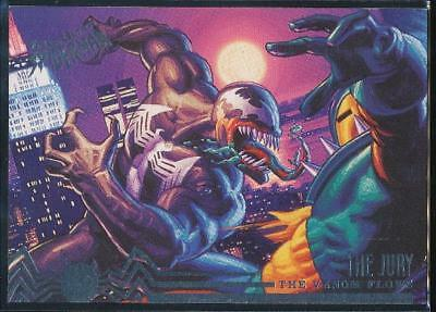 1995 Fleer Ultra Spider-Man Premiere Trading Card #104 Venom vs. The Jury