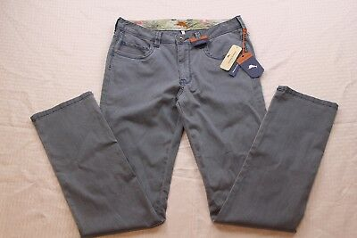 68e9873c Tommy Bahama Mens Chinos Boracay Vintage Straight Fit Mystic Blue Size  30X34 Nwt
