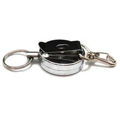 Retractable Metal Wire Rope Spring Keyring Key Chain Ring Anti-theft Telescopic