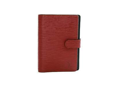 Authentic Louis Vuitton red epi Agenda PM notebook cover
