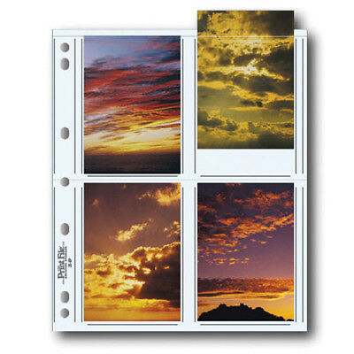 """50 x PRINT FILE 3.5 x 5"""" Photo Pages Sleeves Clear Archival Preservers 35-8P"""