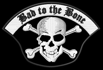 Skull Bad to the Bone S brodé patche Thermocollant iron-on patch