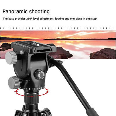 Camera Tripod Ball Head Video Fluid Head Hydraulic Damping 360degree Pan