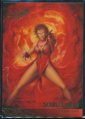 1995 Fleer Ultra Spider-Man Premiere Trading Card #126 Scarlet Witch