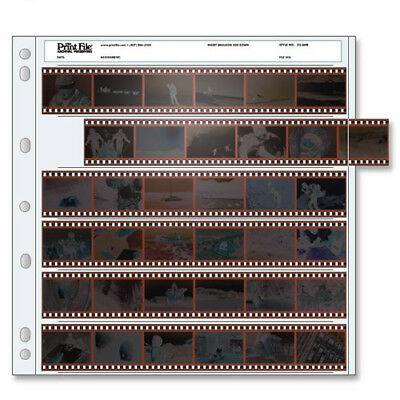 50 x PRINT FILE 35mm 135 Negative Pages Sleeves Film Archival Preservers 35-6HB