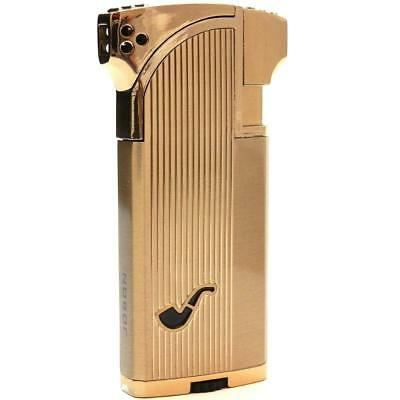 Dual Tobacco & Cigar Pipe Lighter - 90 Angle Soft Flame for & Straight Torch