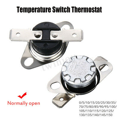 UK KSD301 N.O. Thermostat Temperature Thermal Control Switch 10A 250V 0°C~155°C