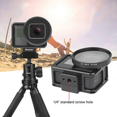 For Gopro Hero 7 Black Camera Protect Housing Cage Case + 52mm UV Lens Filter