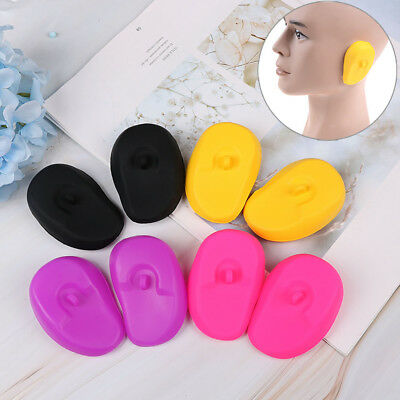 2xReusable silicone ear cover hair salon dye color shield protector earmuff.