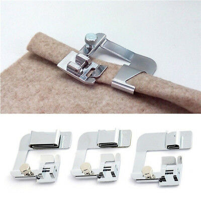 Domestic Sewing Machine Foot Presser Rolled Hem Feet Set for Brother Singer.