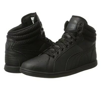 b96aa1a83faa9b Puma Ikaz All Black High Top Sneakers Womens Size US 9.5 EUR 40.5 CM 26