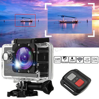 Winksoar 4K Ultra 1080P Wifi Waterproof Sports Action Camera Camcorder DV