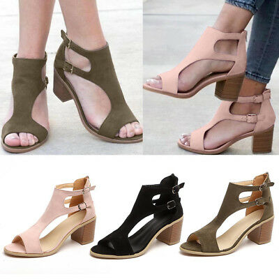 eeff517537d ... High Heel Platform Shoes Chunky Peep Toe Gladiator.
