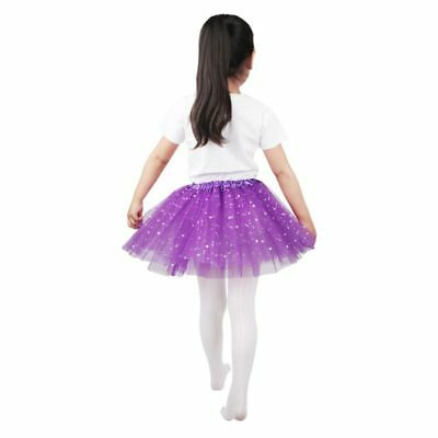 Children Three Layers Ballet Pleated Tutu Color Glitter Satin Edge A-Line Dress