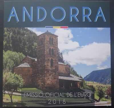 Andorra 2018 year coin set from 1 cent - 2 euro 8 coins 3,88 euro in folder