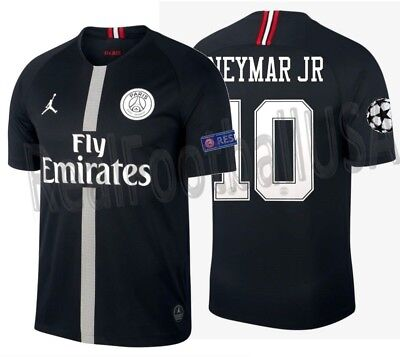 455bbf0ef81f Jordan Neymar Jr Psg Paris Saint-Germain Champions League Home Jersey  2018 19