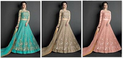 Designer Anarkali Suit Pakistani Style Salwar Kameez Party Wear Indian Dress FM