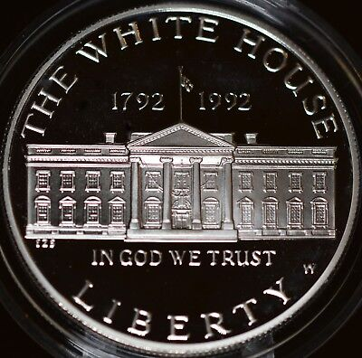 USA 1992 White House 200th Anniversary Silver Dollar PROOF