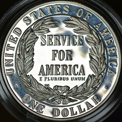 USA 1996 National Community Service Commemorative Coin Silver Dollar PROOF