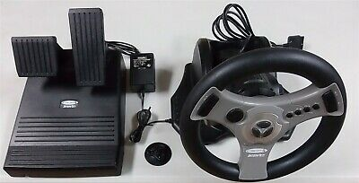 InterAct Concept 4 Racing Wheel with Foot Pedals for Sony PlayStation 1 and 2