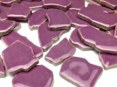 Purple Ceramic Puzzle Pieces - Irregular Shaped Mosaic Tiles Art Craft