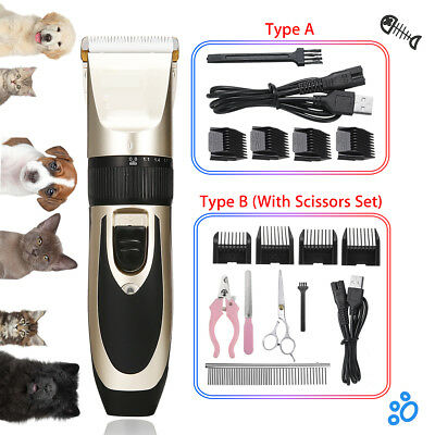 Professional Electric Pet Cat Dog Clipper Shaver Animal Grooming USB Trimmer Kit
