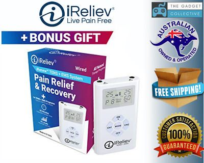 iReliev TENS + EMS Combination Unit Muscle Stimulator for Pain Relief & Arthriti