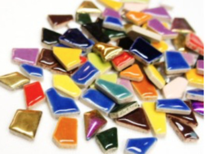 Mixed Ceramic Puzzle Pieces - Irregular Shaped Mosaic Tiles Art Craft