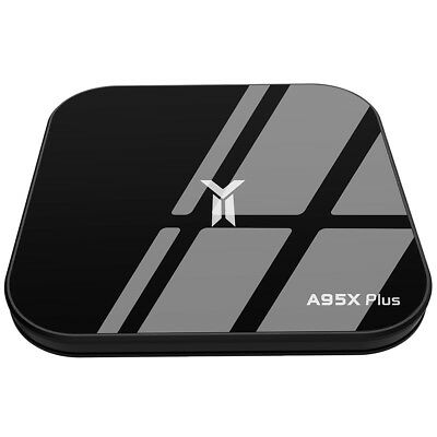 A95X PLUS TV Box 4K Media Player 4GB+32GB Android 8.1 H.265 Quad-Core WiFi BT4.2