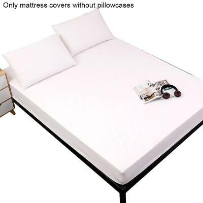 1Pc Waterproof Full Queen Size Mattress Protector Bed Cover Soft Hypoallergenic