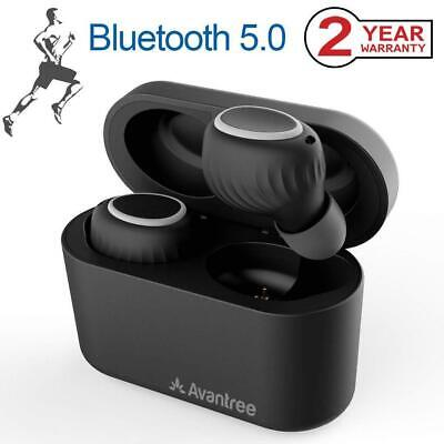 Avantree Bluetooth 5.0 True Wireless Earbuds with Portable Charging Case, Sweatp