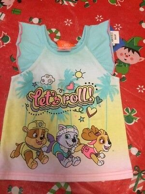 Toddler girls shirt size 2T brand new Nickelodeon paw patrol lets roll shirt