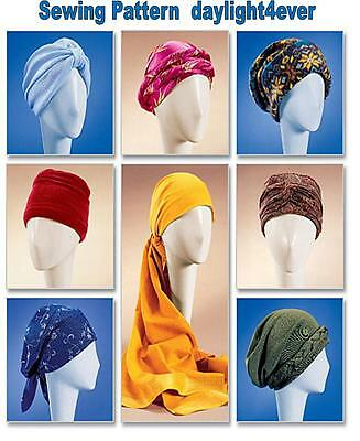 7 Turban Head Wrap Chemo Wear Hat McCall's Sewing Pattern 4116  New Size S-L #i