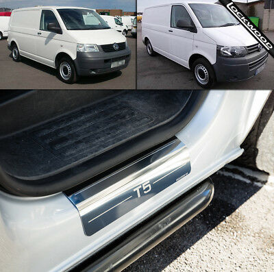 VW Transporter T5 (2003 - 2014) Stainless Steel Sill Protectors / Kick Plates