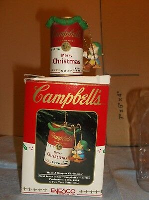 """CAMPBELL`S CHRISTMAS ORNAMENT """"Have Soup-er Christmas"""" 1st ISSUE 1992-93"""