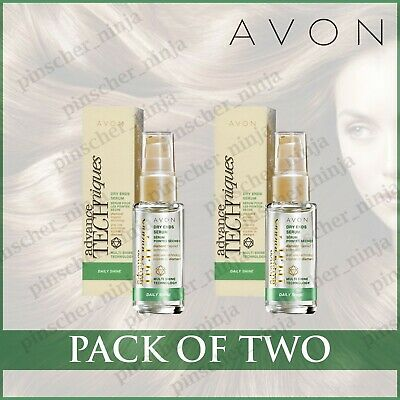 2 x Avon Advance Techniques Daily Shine Dry Ends Serum - 30ml - SEALED BRAND NEW