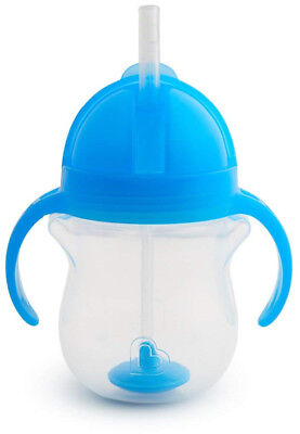 Munchkin Click Lock Tip and Sip Weighted Flexi Straw Trainer Cup 7oz/207ml Blue