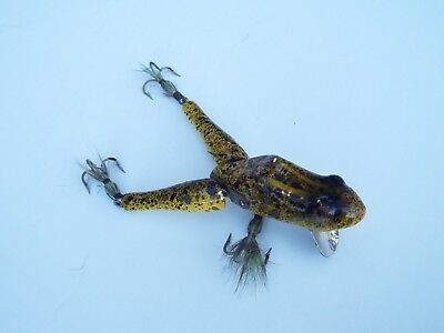 Vintage PAW-PAW Frog Decoy Fishing Lure,3 Treble Hooks Collectible Vintage Lure