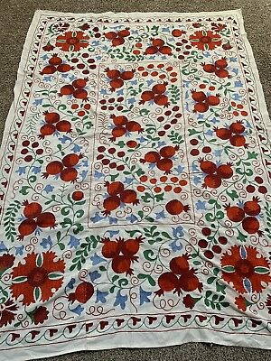 Beautiful Uzbek Large Quilt Bedding Handmade Wall Decor Embroidery Suzani