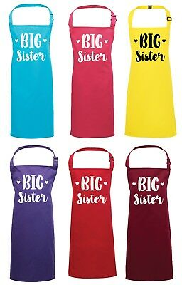 Girls Big Sister Apron - Baking Cooking Art Crafts Painting Pregnancy Reveal