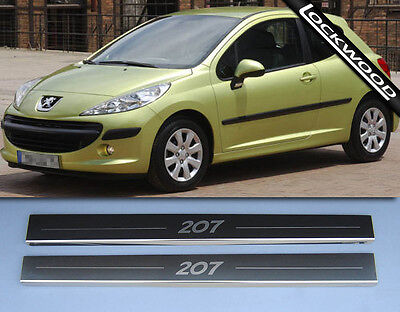 Peugeot 207 Stainless Stainless Steel Sill Protectors / Kick Plates