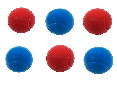 E-Deals 70mm Soft Foam/Sponge Balls - Pack of 3 Blue + 3 Red