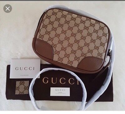 0304ab6e0dee NEW~GUCCI BREE ORIGINAL Gg dollar Calf beige tabacco Large Bag ...