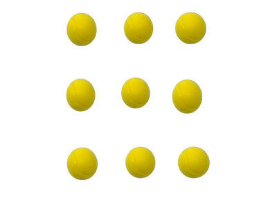 E-Deals 70mm Soft Foam/Sponge Balls - Pack of 9 Yellow