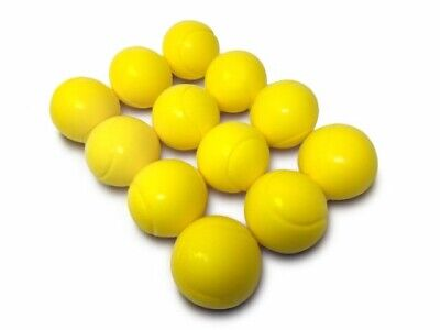 E-Deals 70mm Soft Foam/Sponge Balls - Pack of 12 Yellow