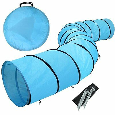 18' Dog Tunnel Portable Obedience Agility Training Chute Dog Supply Carrier