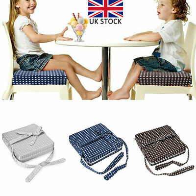 Kids Toddler High Chair Seat Pad Safe Booster Dining Cushion Adjustable Mat UK