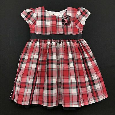 7f7b3557e3ba Carter's Toddler Girls Size 24 Months Red Black Plaid Holiday Christmas  Dress