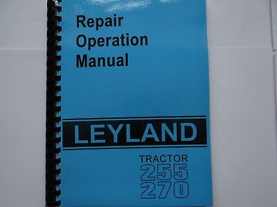 Leyland Tractor 255 270 Repair Operation Manual
